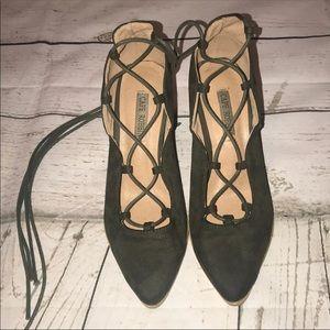 Cape Robbin lace up block heels